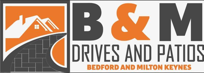 B&M Drives and Patios logo