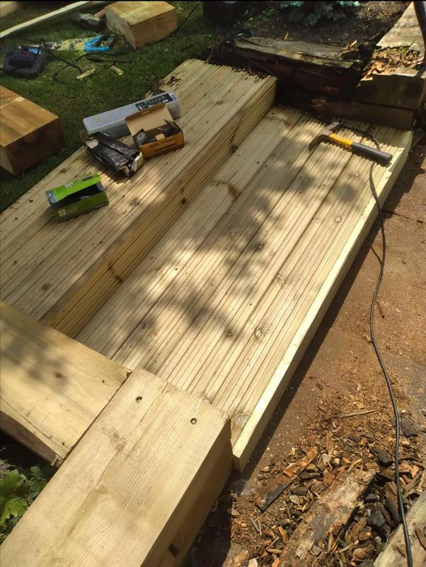 Image 11 - Supply and fit, new Decking, with steps.