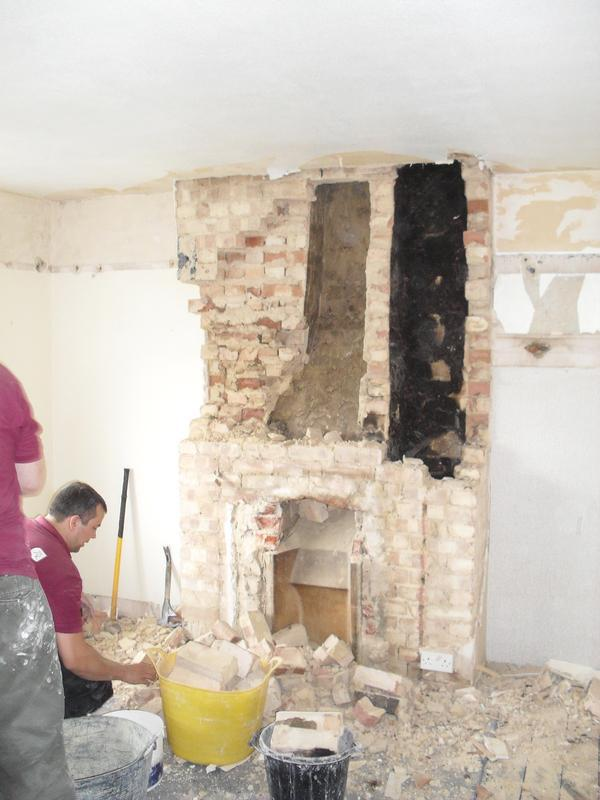 Image 12 - Removal of chimney breast before