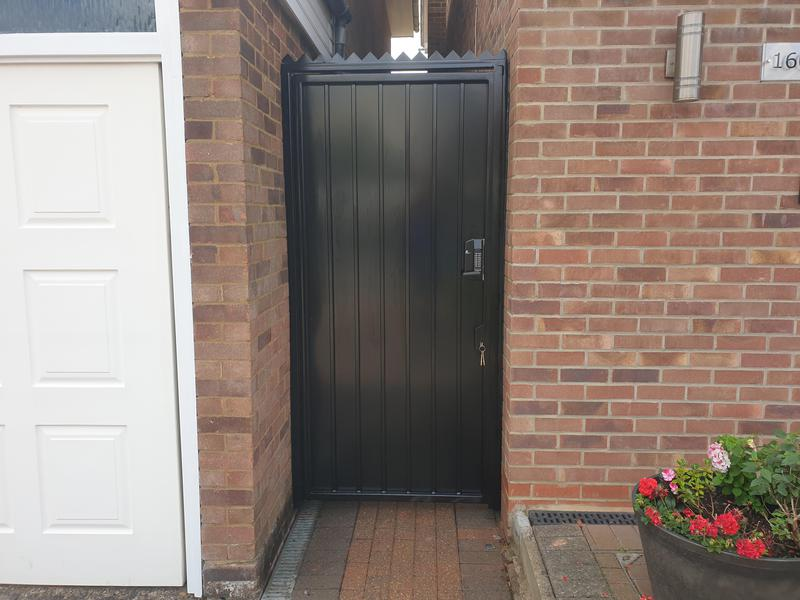 Image 49 - High Security Side Gates, galvanised and powder coated, high security deadlocks fitted as standard