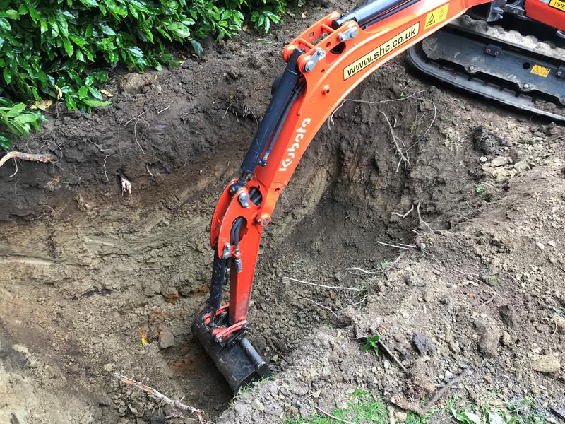 Image 1 - Digging a hole for a new Treatment Plant