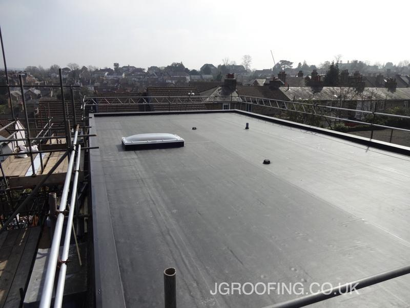 Image 5 - New Rubberebond EPDM Warm Deck Flat Roof Currenlty Completed In Sevenoaks