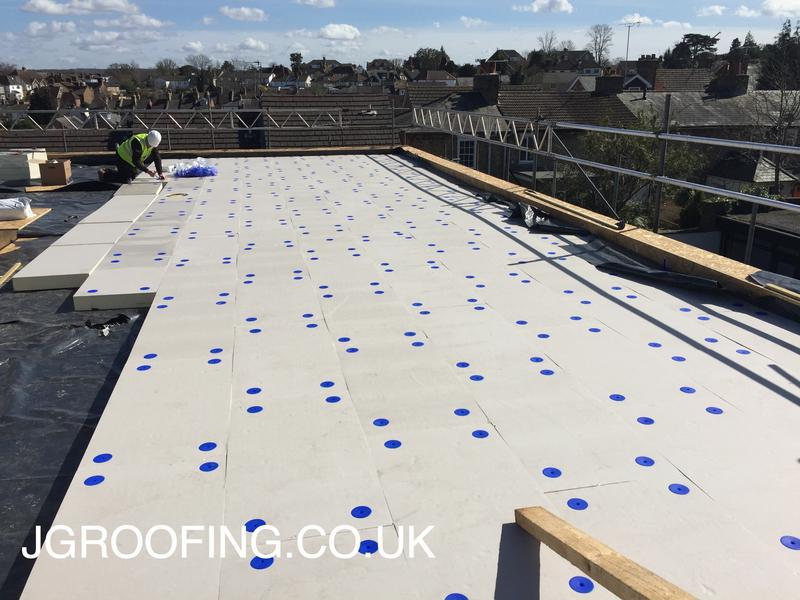 Image 6 - During Works At Sevenoaks, Using 120mm Kingspan Insulation To Create A Warm Deck.