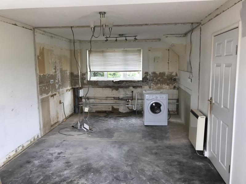 Image 37 - Customer 0063: Kitchen removed and internal wall down.