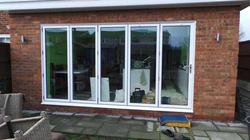 Image 98 - Shoebury-White Bi-folding doors