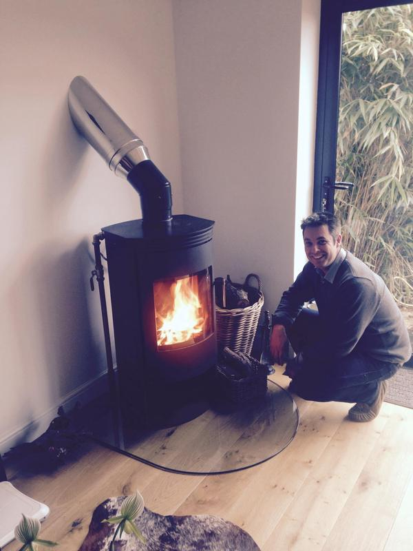 Image 19 - Wooden stove plumbed in to C/Heating system.