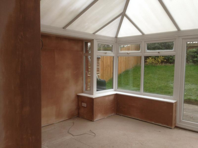 Image 21 - Conservatory plastered