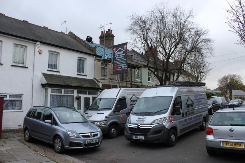 Image 31 - Empire Vans and Scafflding at a job in Enfield