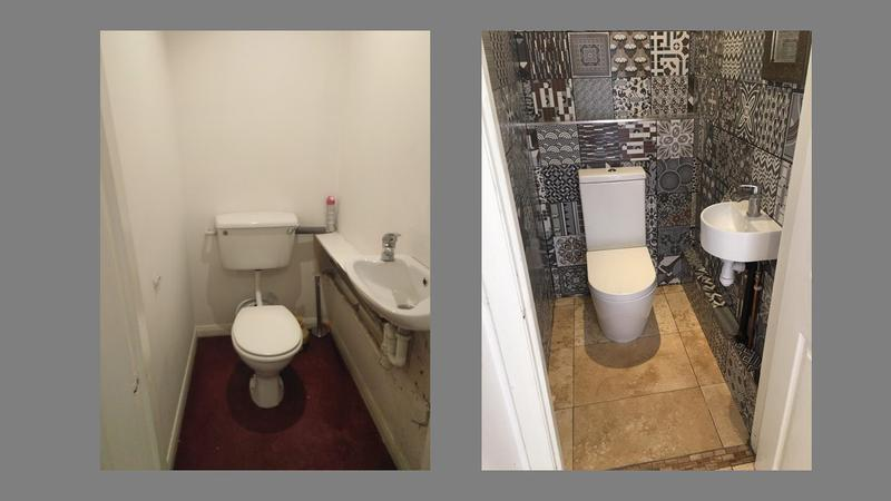 Image 8 - Before and after, cloakroom.