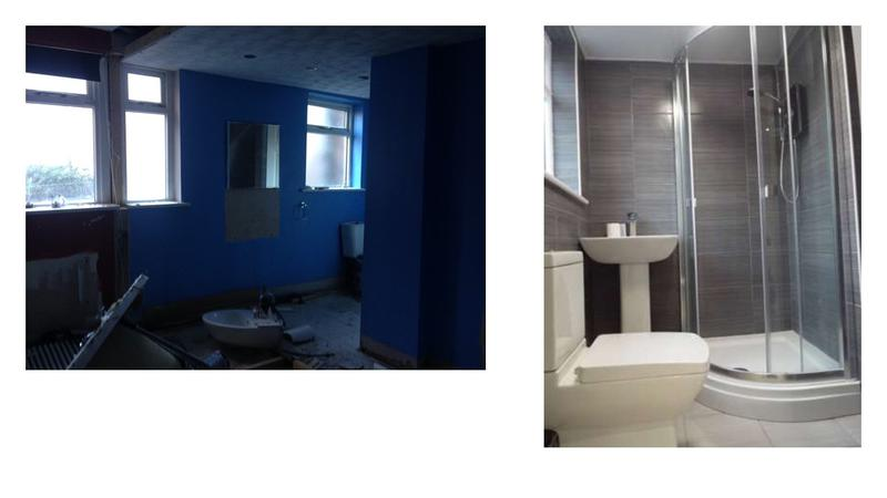 Image 18 - Before and after, conversion of a three storey listed building into three self contained flats with fire panel, full rewire, electric cylinder water system.