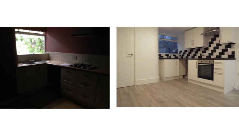Image 22 - Before and after, conversion of a three storey listed building into three self contained flats with fire panel, full rewire, electric cylinder water system.