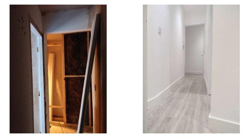 Image 29 - Before and after, conversion of a three storey listed building into three self contained flats with fire panel, full rewire, electric cylinder water system.