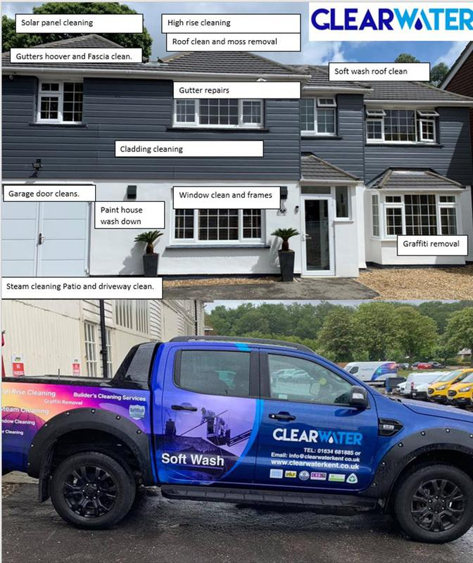 Image 15 - clearwaters new soft wash roof clean van please keep an eye out and do not hesitate to contact us if you would like your roof cleaned or any other services