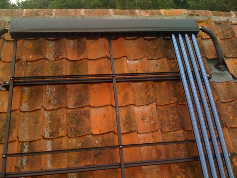 Image 34 - Tubular panel solar thermal installation