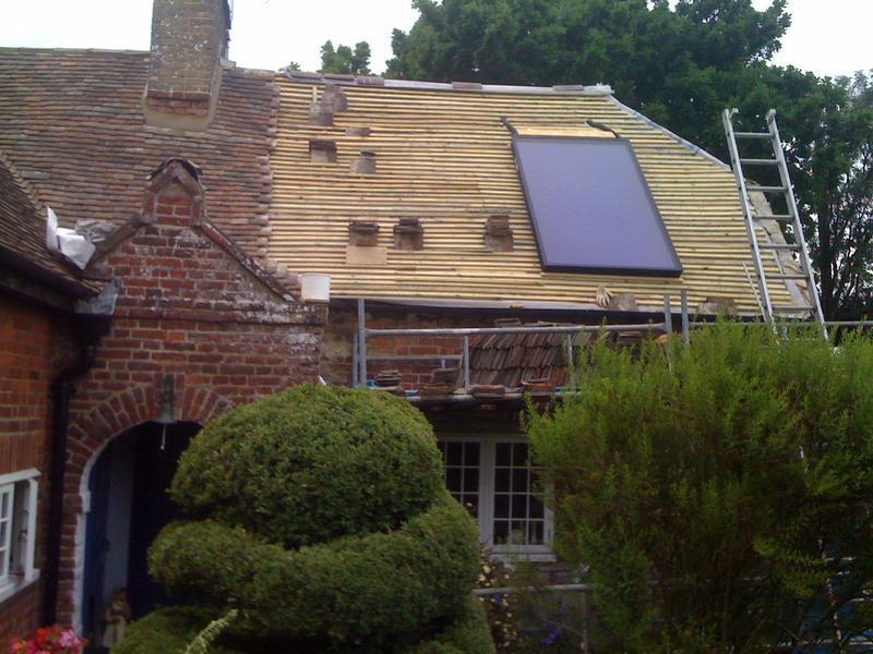 Image 32 - flat panel solar thermal installation
