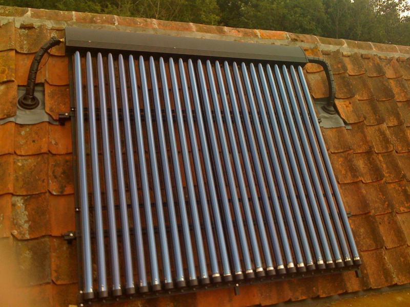 Image 69 - Tubular panel solar thermal installation