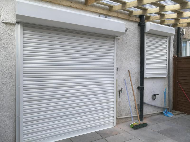 Image 6 - Steel Powder Coated Electric Shutters fitted at the rear of a property in SE12 9NH