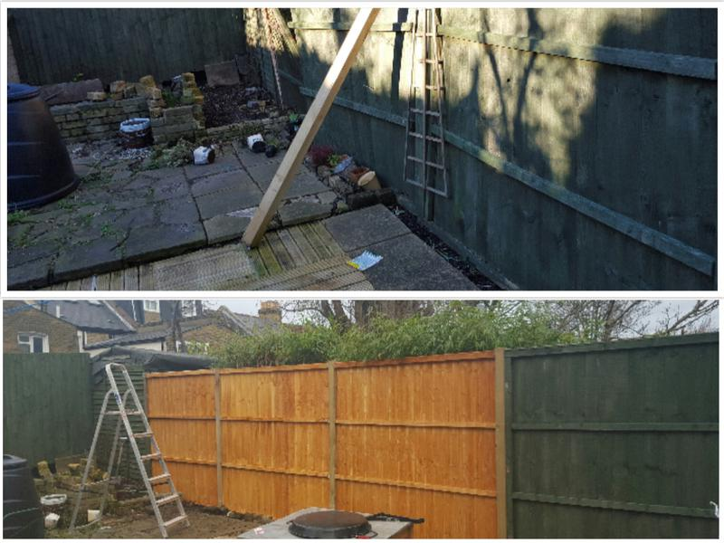 Image 68 - Replacement fence panels installed.