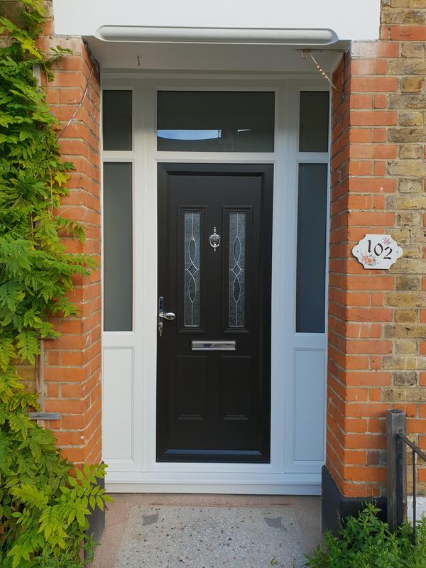 Image 96 - Southend-on-Sea-Black UPVC panel door