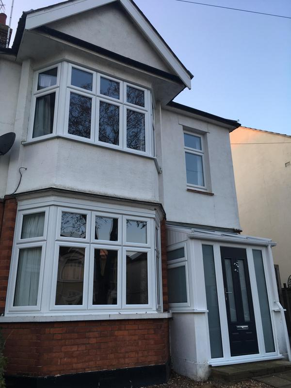 Image 34 - Southend-on-Sea-White bay and casement windows and composite door