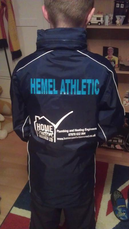 Image 1 - Sponsors of Hemel Athletics youth football team