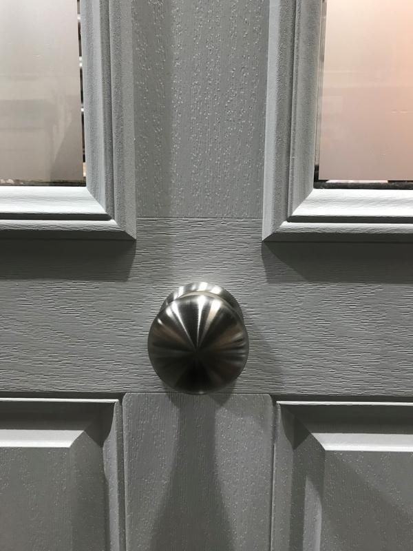 Image 13 - Light Grey Composite door with Stainless Steel Victorian Knob