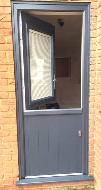 Image 30 - Composite stable door with built in blind to glass