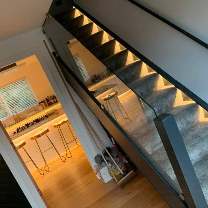Image 6 - led stair lights and leds in kitchen