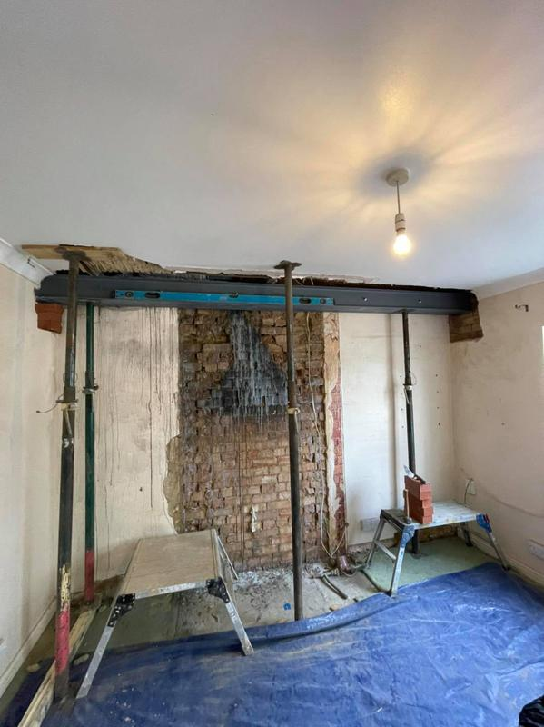 Image 32 - chimney breast removal steel