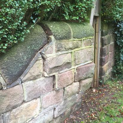 Image 24 - Damaged stone wall.