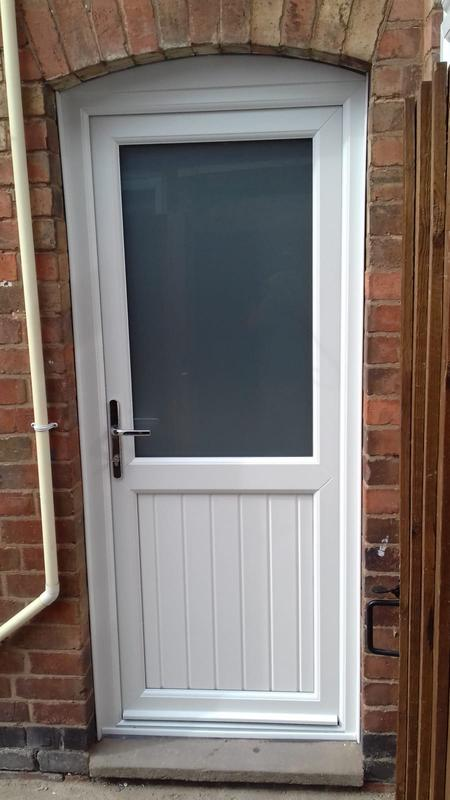 Image 15 - White UPVC Back Door, Thurmaston