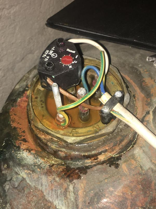 Image 1 - leaking Immersion Heater
