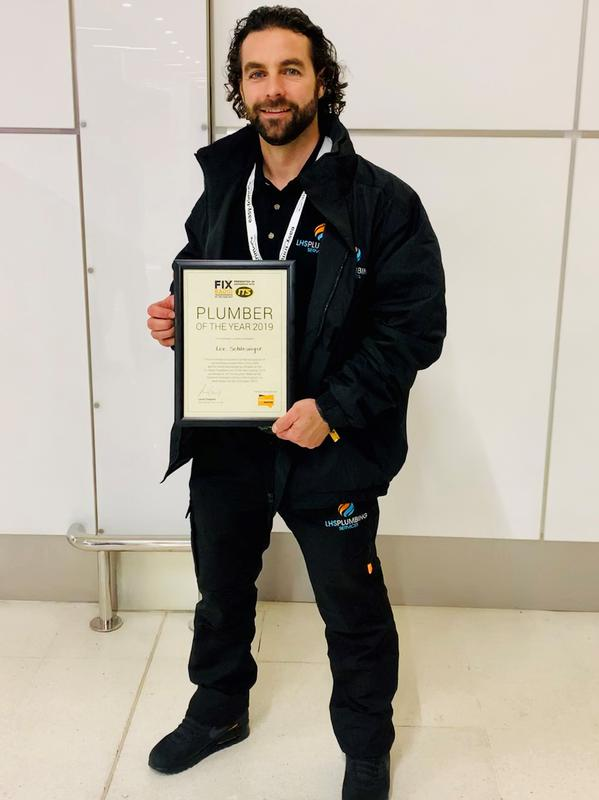Image 4 - Awarded Plumber of the year in October 2019