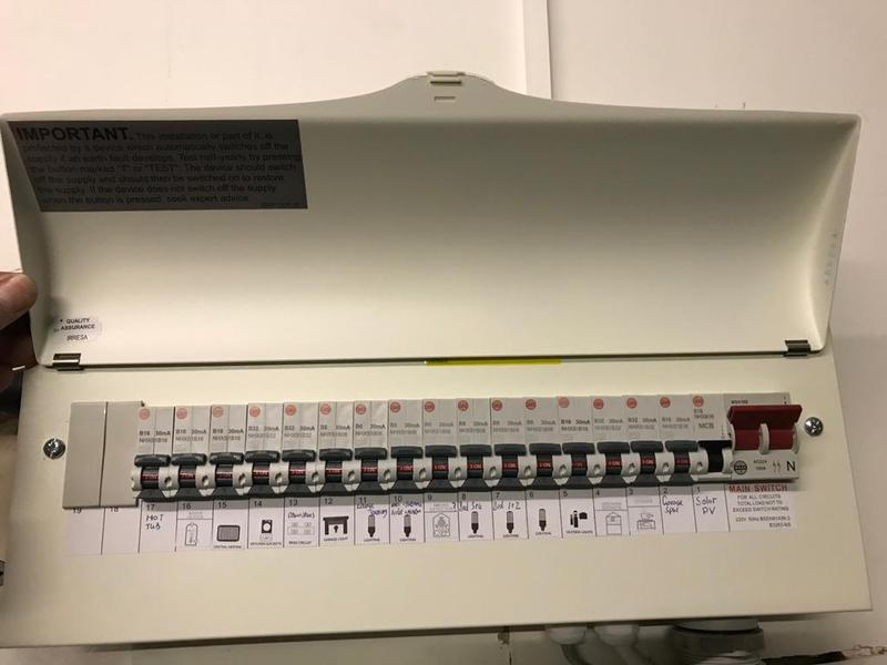 Image 1 - Surbiton Consumer Unit nice and safe with all RCBOs for the best possible protection.