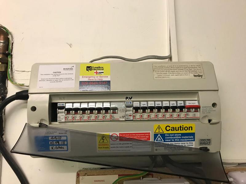 Image 2 - Surbiton Consumer Unit in an unsafe condition before we changed it