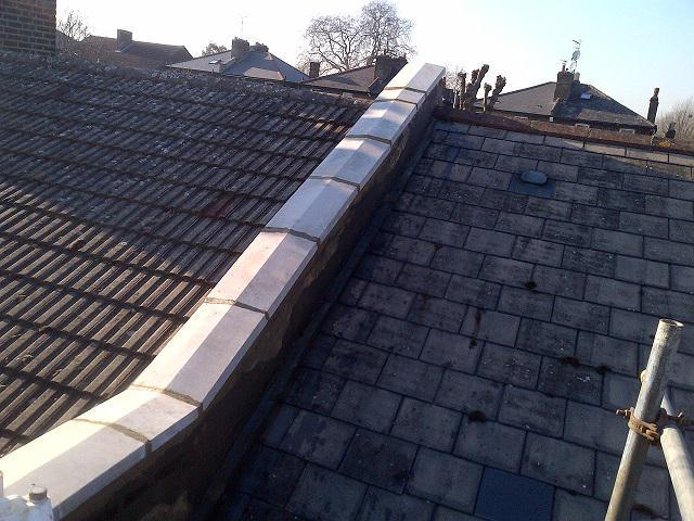 Image 26 - twice weathered coping stones on a DPC membrane