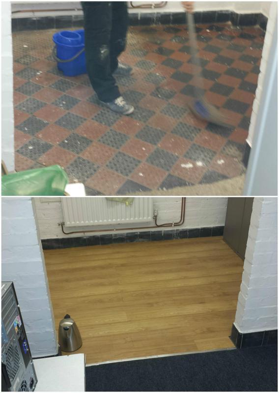 Image 80 - Vinyl flooring installed.