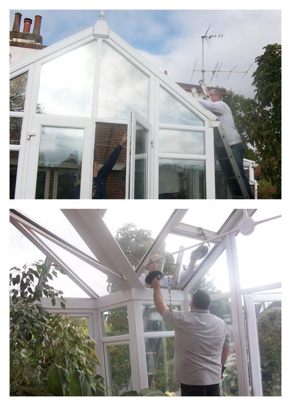 Image 12 - In process of installing a new sealed unit to conservatory roof