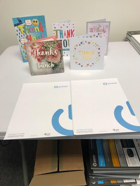 Image 18 - Thank you cards from happy customers , stockport and manchester electricians.