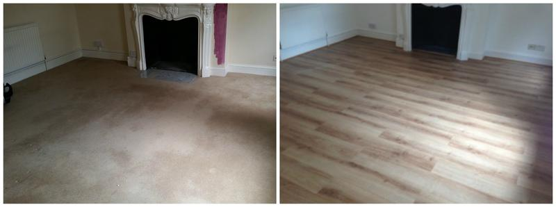 Image 79 - Laminate flooring installed to replace the carpet.