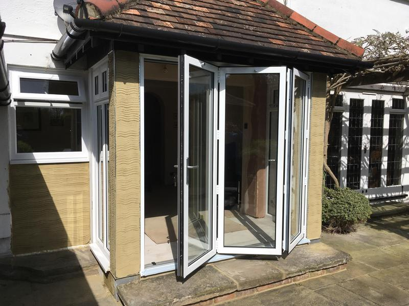 Image 92 - Thorpe Bay-White Bi-folding doors