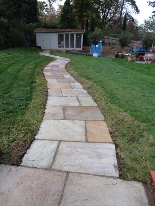 Image 32 - Indian sandstone pathway.