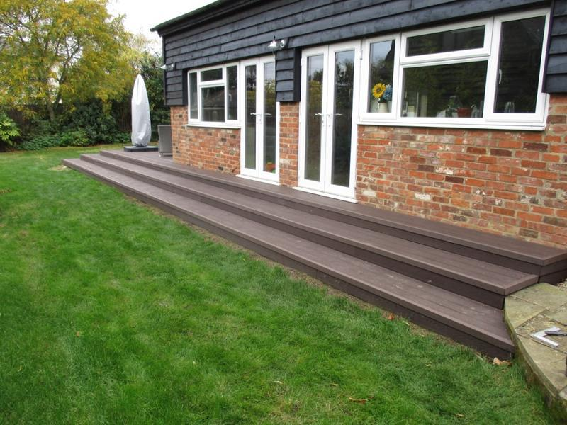 Image 37 - Composite decking steps.