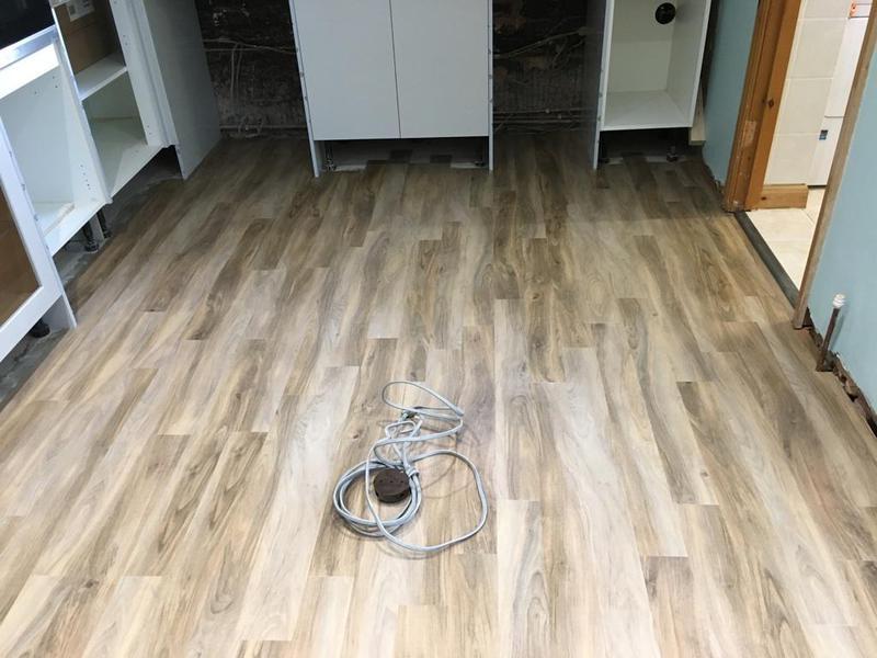 Image 141 - floor levelled, then lvt wood effect installed
