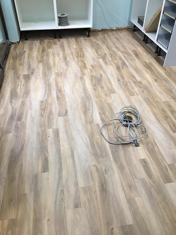 Image 142 - floor levelled, then lvt wood effect installed