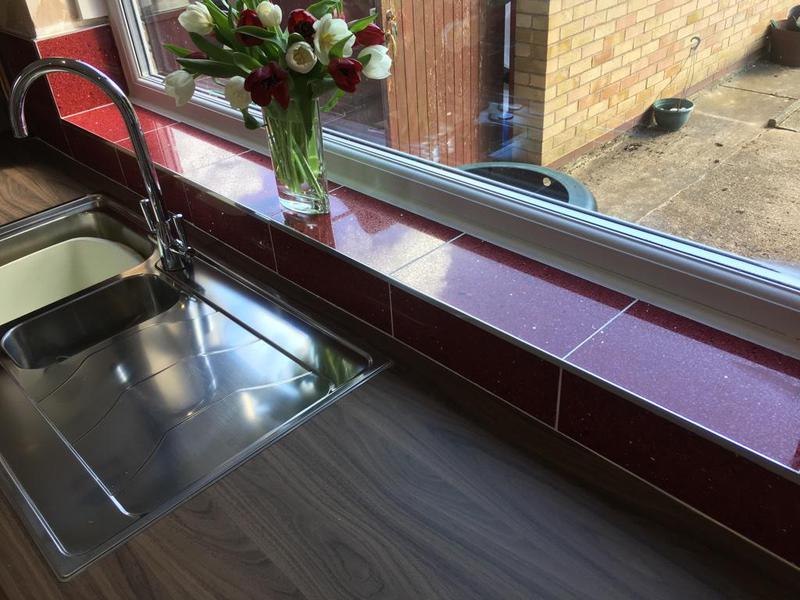 Image 143 - quartz tiles installed in a kitchen splash back
