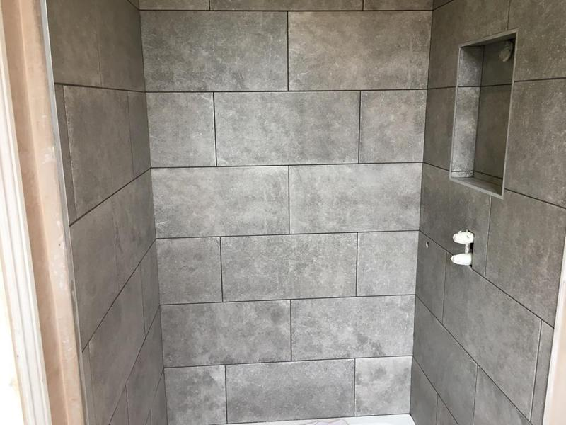 Image 163 - en suite - 60 x 30 tiles installed in a brickbond