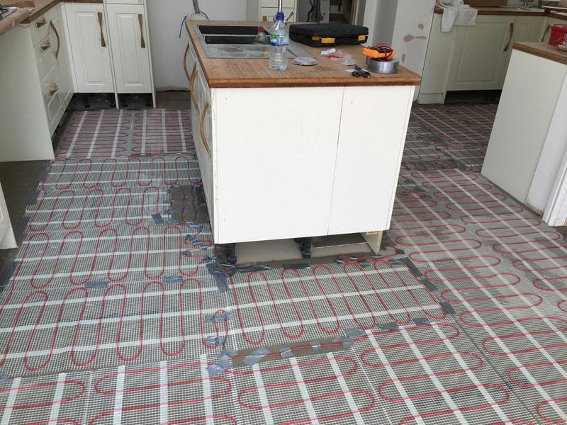 Image 165 - kitchen/diner - underfloor heating installed, porcelain wood effect 1200 x 200 tiles installed
