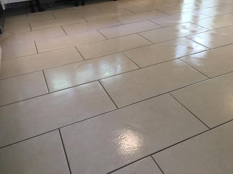 Image 169 - kitchen floor in a 600 x 300 tile installed brickbond