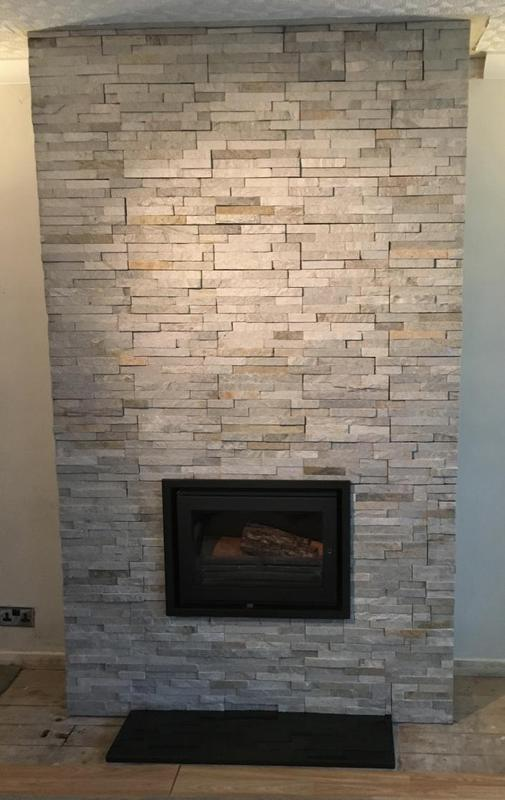 Image 177 - fireplace in a split face stone effect tile